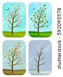 seasons | Shutterstock .eps vector #592095578