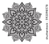 Mandala Line Art For Anti...