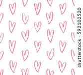 sweet heart brush pattern | Shutterstock .eps vector #592102520