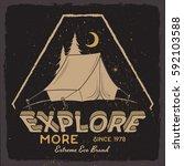 adventure motivational print... | Shutterstock .eps vector #592103588