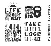 set of text templates for... | Shutterstock .eps vector #592104596