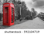 Old Fashioned Red British Phone ...
