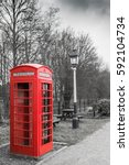 Old Fashioned Red British Phon...