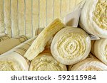 package of thermal insulation... | Shutterstock . vector #592115984