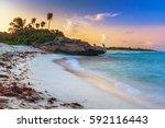 Sunset On The Beach Of Playa...