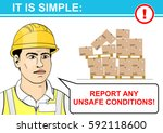 report any unsafe conditions.... | Shutterstock .eps vector #592118600