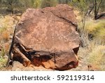 Small photo of Australia, Aborigine rock gravings in N-Dhala Gorge Nationalpark