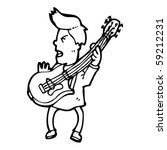 guitar player cartoon   Shutterstock .eps vector #59212231