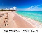 Beach At Caribbean Sea In Play...