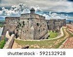 view of old castle in santiago... | Shutterstock . vector #592132928