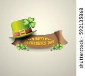 vector happy saint patrick's... | Shutterstock .eps vector #592135868