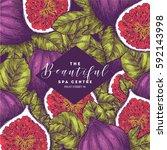 fig fruit vintage design... | Shutterstock .eps vector #592143998