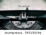 rejected words typed on a... | Shutterstock . vector #592150196