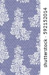 seamless vector lace pattern | Shutterstock .eps vector #592152014