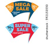 sale label price tag banner... | Shutterstock .eps vector #592153550