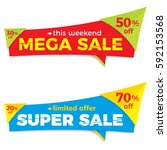sale label price tag banner... | Shutterstock .eps vector #592153568