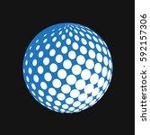 halftone vector globe artwork... | Shutterstock .eps vector #592157306