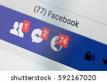 riga  latvia   february 24 ...   Shutterstock . vector #592167020