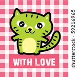 love kitten tag | Shutterstock .eps vector #59216965