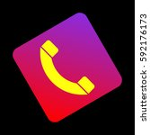 phone sign illustration. vector....
