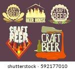 set craft beer logo  bottles | Shutterstock .eps vector #592177010