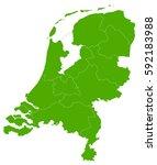 netherlands green map | Shutterstock .eps vector #592183988