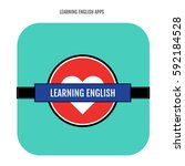 british learning english... | Shutterstock .eps vector #592184528
