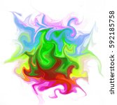 colorful digital acrylic color... | Shutterstock . vector #592185758