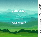 flat landscape textured...   Shutterstock .eps vector #592186406