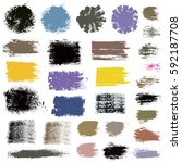 grunge paint vector. painted... | Shutterstock .eps vector #592187708