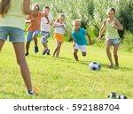 happy cheerful  children... | Shutterstock . vector #592188704