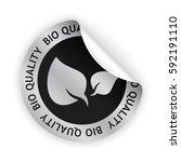 vector green bent sticker with... | Shutterstock .eps vector #592191110