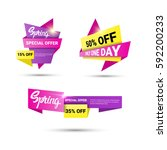 spring sale shopping special... | Shutterstock .eps vector #592200233