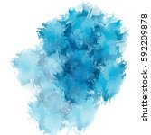 abstract blue watercolor on... | Shutterstock . vector #592209878