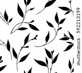 vector seamless floral pattern  ... | Shutterstock .eps vector #592213199