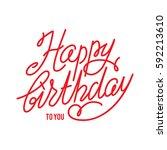 happy birthday lettering   Shutterstock .eps vector #592213610