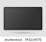 tv screen template with empty... | Shutterstock .eps vector #592214570