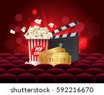 cinema movie design poster... | Shutterstock .eps vector #592216670