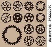 Set Of Gears. Gear Wheel...