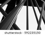 artistic architectural pillars... | Shutterstock . vector #592235150