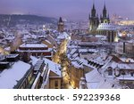 Winter In Prague   City...