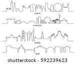 cityscape  vector illustration... | Shutterstock .eps vector #592239623