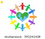 globe  people  icon vector... | Shutterstock .eps vector #592241438