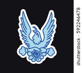 doodle icon  sticker. eagle.... | Shutterstock .eps vector #592246478