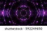 violet glittering stage lights | Shutterstock . vector #592249850