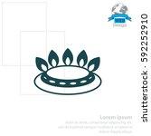 gas burner icon. vector design | Shutterstock .eps vector #592252910