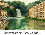 waterfall isola del liri | Shutterstock . vector #592254053