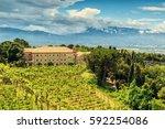 landscape montecassino | Shutterstock . vector #592254086