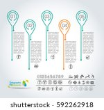 collection of vector... | Shutterstock .eps vector #592262918
