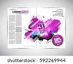 brochure layout | Shutterstock .eps vector #592269944